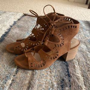 BP- Brown Suede Sandals w/ Heel